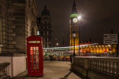 London at night. View of Big Ben, in central London, UK at night Royalty Free Stock Image