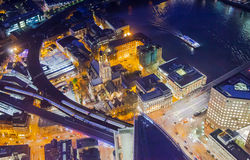 LONDON, Night view City of London Royalty Free Stock Photos