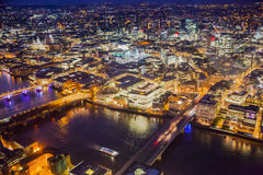 LONDON, Night view City of London Stock Image