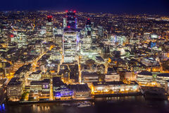 LONDON, Night view City of London Royalty Free Stock Images