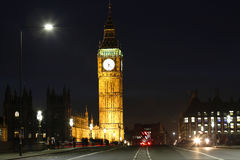 London Night view, include Big Ben Royalty Free Stock Photos