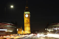 London Night view, include Big Ben Royalty Free Stock Photo