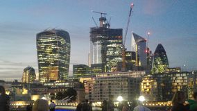 London night view includes sky garden building stock photography