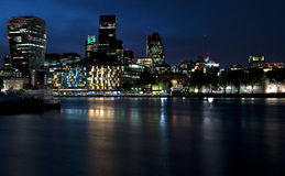 London at night. Night view on the Thames river. London Royalty Free Stock Image