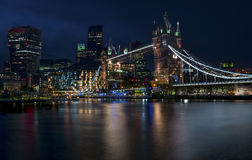 London at night. Night view on Tower Bridge. London, the UK Stock Photo