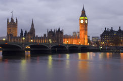 London at night. London. view of Westminster Bridge and Houses of Parliament with Thames river Stock Photo