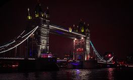 London by night ,walk in thames royalty free stock images