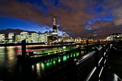 London Nightlife. View along Thames River at night, wonderful side of london with the majestic, wonderful color of light during the night Stock Photo