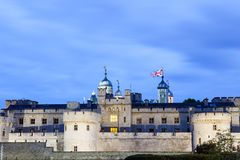 London nights at London Tower castle Stock Images