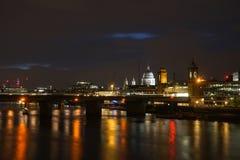 London& x27; nightscape de s fotografia de stock royalty free