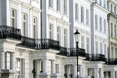 London, Notting-hill. Typical Victorian style frontages in Notting-hill, fashionable district of London Royalty Free Stock Photography
