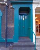 London Notting Hill, blue green door. London Notting Hill, colorful blue green entrance door Stock Image