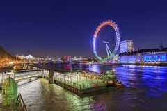Traveling in the famous London Eye, London, United Kingdom Royalty Free Stock Images