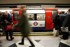 Inside view of London Underground Stock Photography