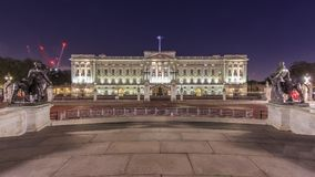 Night view of the famous Buckingham Palace, London, United Kingd Stock Photos