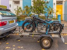A beautiful old BMW motorbike stock photo