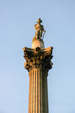 LONDON - NOVEMBER 12 : Close-up of part of Nelson's column in Tr Stock Photos