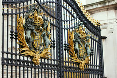 LONDON - NOVEMBER 16, 2016: Detail of the gates at the entrance stock images
