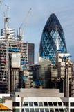 LONDON - NOVEMBER 6: London horisont som sett från monumentet I Arkivbild