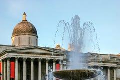 LONDON - NOVEMBER 12: National Gallery i London på Novembe Arkivfoto