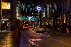 LONDON - NOVEMBER 17, 2016: Strand street with Christmas decorat Stock Photos