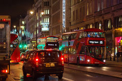 LONDON - NOVEMBER 17, 2016: Strand street with Routemaster diese Stock Image
