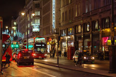 LONDON - NOVEMBER 17, 2016: Strand street with Routemaster diese Royalty Free Stock Photography