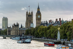 LONDON - NOVEMBER 3 : View along the River Thames in London on N Stock Photo