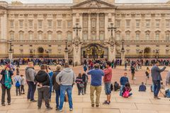 A typical view at Buckingham Palace stock image