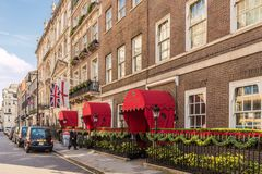 A typical view in Mayfair. London. November 2018. A view of the Chesterfield Hotel in Mayfair in London stock photos