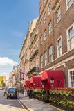 A typical view in Mayfair. London. November 2018. A view of the Chesterfield Hotel in Mayfair in London royalty free stock image