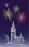 london nytt år Arkivbild