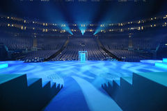 The London O2 Arena stage Stock Photos