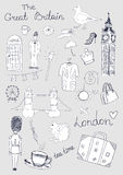 London Objects. Vector hand drawn London objects Royalty Free Stock Photos