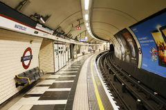 Inside view of London Underground Royalty Free Stock Photos