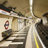 Inside view of London Underground Stock Photo
