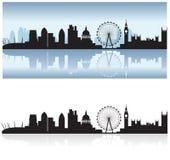 london odbicia linia horyzontu Zdjęcia Royalty Free