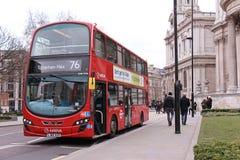 London offentlig buss Arkivbilder