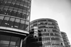 London Office Buildings - black and white royalty free stock photos