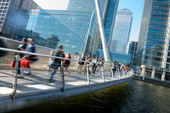 London office buinesss building movement in rush hour Stock Photo