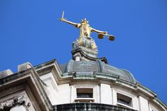 London Old Bailey Royalty Free Stock Photography