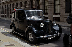 London Old Cab. London, United Kingdom - June 2012. King Street: the London Taxi Austin FX3D taking part in the Celebrate the City 4 days event Stock Image