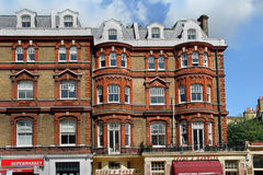 London, old fashioned apartment building Royalty Free Stock Photos