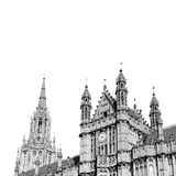 In london old historical    parliament glass  window    structur Stock Images