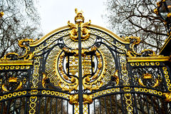 In london  the old metal gate  royal palace Stock Photos