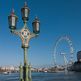 London old and new - the Thames from Westminster Bridge Stock Photo