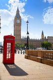 London old red Telephone box Royalty Free Stock Images