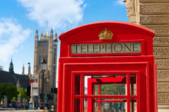 London old red Telephone box Stock Images