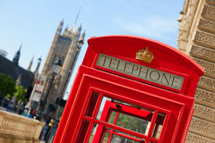 London old red Telephone box Stock Photo