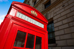 London old red Telephone box Royalty Free Stock Photography